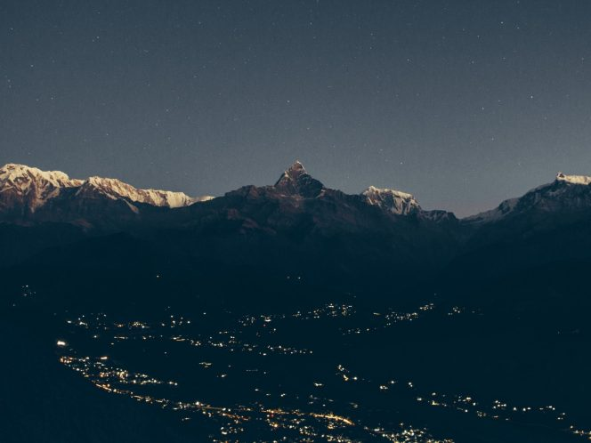 Mount Fishtail and Pokhara city from Sarangkot early morning - Photo by Irfan Khan